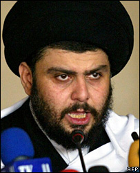 Moqtada Sadr gives a sermon in Kufa (25 May 2007)