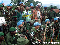 Joint UN/rangers patrol (Image: WildlifeDirect)