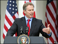 Tony Blair in the US