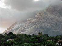 Smoke over Montserrat