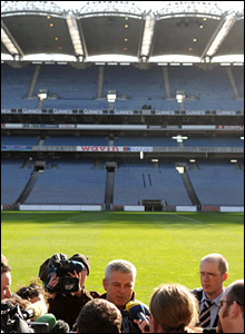 Wales coach Warren Gatland faces the media at Croke Park ahead of Saturday's Six Nations clash with his former employers Ireland (*All photos Huw Evans Agency unless stated)