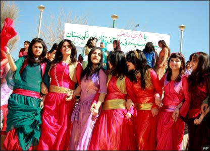 Kurdish women gather in Sulaimaniya, Iraq