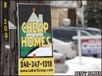 Aviso de venta de una casa en Detroit