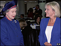 The Queen and Carol Barnes