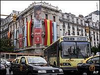 Propaganda electoral de España en una calle de Buenos Aires, Argentina
