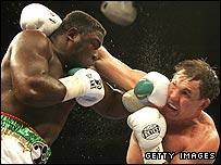 Samuel Peter left fights against Oleg Maskaev