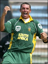 Andre Nel claimed three wickets to take him past 100 in