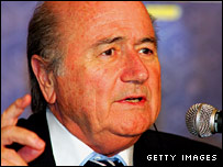 Blatter held a meeting with the Scottish FA on Saturday