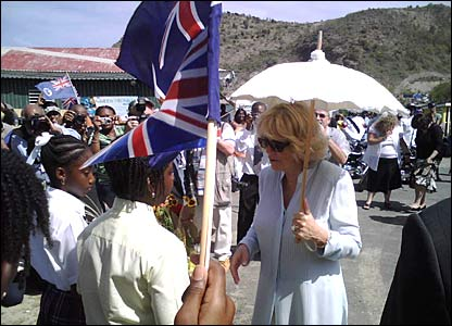 Duchess of Cornwall in Montserrat