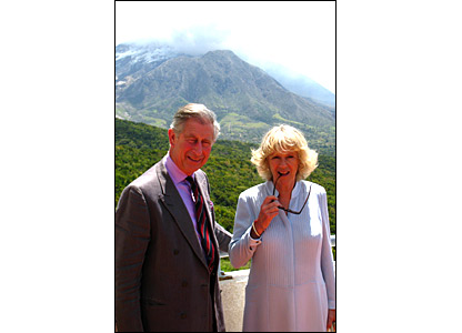 Prince of Wales and the Duchess of Cornwall in Montserrat