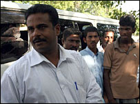 Former Tamil Tiger Pradeep (L), 9 March 08