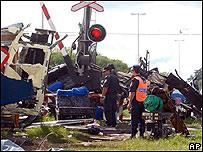 Imagen del lugar del accidente en Dolores, Argentina