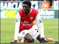 Arsenal striker Emmanuel Adebayor
