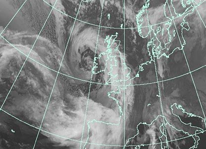 Satellite image at 0300 GMT Monday (Courtesy of EUMETSAT/Met Office)