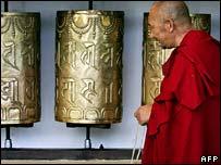 Tibetan monk in Dharamsala