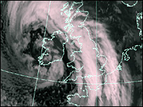Satellite image at 2200 GMT (Picture courtesy of EUMETSAT)