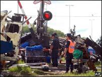 Scene of the crash in Argentina