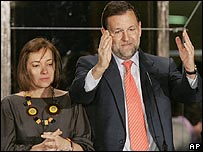 Opposition leader Mariano Rajoy after losing Spanish elections 09/03/08