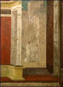 Decoración de una pared en la casa de augusto