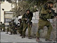 Israeli forces on patrol in Nablus - September 2007