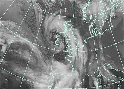 Ураган в Британии. Фото EUMETSAT