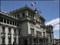 Presidential palace in Guatemala City