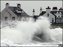 Waves at Trearddur Bay in north Wales