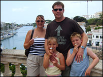 The Classick family on holiday