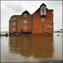 Flooded house. Image: Getty