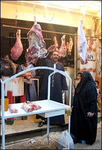 Butcher's stall in Cairo