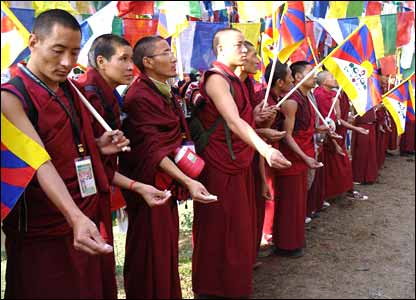 Buddhist monks in Dharamsala, India