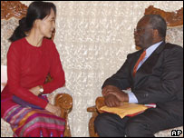 Ibrahim Gambari meeting Aung San Suu Kyi, 10th March