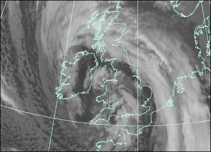 Satellite image at 1200 GMT Monday (Courtesy of EUMETSAT/Met Office)