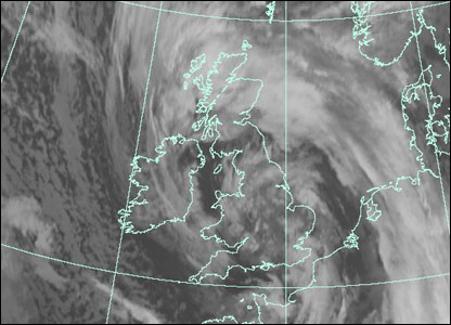 Satellite image at 1600 GMT Monday (Courtesy of EUMETSAT/Met Office)