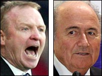Alex McLeish and Sepp Blatter