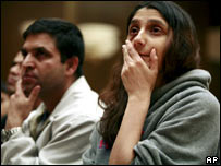 Indian students in US at a memorial service
