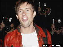 Ian 'H' Watkins going into the Big Brother house