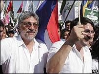 Fernando Lugo y Federico Franco.