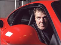Jeremy Clarkson in a car