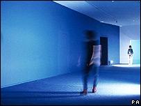 Gonzalez-Foerster's Seance de Shadow II (bleu), 1998