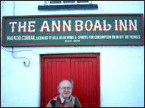 Malachi Curran outside his pub