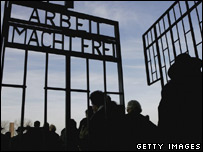 Gate to Sachsenhausen concentration camp, Germany - 2006 file photo
