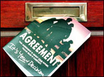 Good Friday Agreement being posted