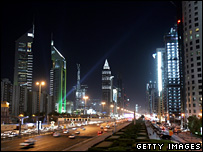 Dubai at night (archive)