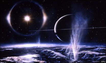 Artist's impression of Enceladus (SPL)