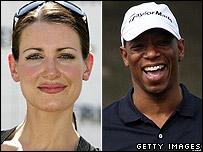 Kirsty Gallacher and Ian Wright