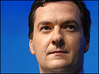 Conservative shadow chancellor George Osborne