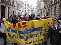 Protest by Droit au Logement
