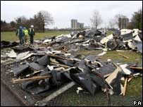 The roof of a council building blew off in Carrington