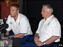 Andrew Flintoff and Duncan Fletcher